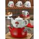 Keramika 2 Parça Çaydanlık Seti Red Love