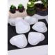 Keramika 6 Adet Kalp Çerezlik 14 Cm Beyaz