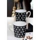 Keramika 2 Adet 9 Cm Siyah Yıldız Auro Kupa