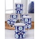 Keramika 6 Adet 10 Cm Etnik Silindirik Tuna Kupa