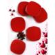 Keramika 6 Adet 22 Cm Kırmızı Bayrak Köşem Pasta Tabağı