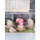 Keramika 12 Adet Kera Çay Takımı İlkbahar Tomurcuk