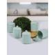 Keramika 10 Parça Baharat Takımı Köşem 8 Cm Çağla Yeşili