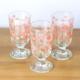 Joy Glass 3 Lü Gül Pembe Bardak
