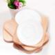 Joy Glass 6 Lı Opak Renkli Çay Tabağı Beyaz