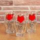 Joy Glass 3 Lü Şeker Peker Meşrubat Bardağı