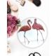 Keramika 1 Adet 25 Cm Servis Tabağı Kera Art Flamingo