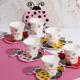 Porselen Figürlü Fincan Takımı Uğurböceği