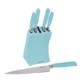 Tantitoni 6 Parça iınt Çelik Bloklu Metal Bıçak Seti