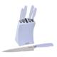 Tantitoni 6 Parça Gri Çelik Bloklu Metal Bıçak Seti