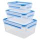 Tefal Clip&Close Fresh 3´lü Saklama Kabı Seti 2.30 L + 1 L + 0.55 L
