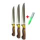 Tuğra Çelik El Yapımı 3'Lü Kurban Bıçağı Seti