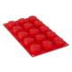 Tantitoni Silikon Kırmızı Gül Şekilli 15li Kek Kalıbı