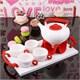 İhouse5648 Porselen Tepsili Çay Seti Kırmızı