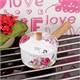 İhouse33210 Ahşap Kulplu Porselen Sos Tavası Beyaz