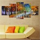 Tabloshop - Kp-05 5 Parçalı Canvas Tablo - 123X56cm