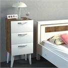 Dekorister Bellini 3 Çekmeceli Şifonyer Beyaz-Ceviz