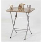 Ellnaz Yana Yatan Mutfak ve Balkon Masası Ceviz 45x60