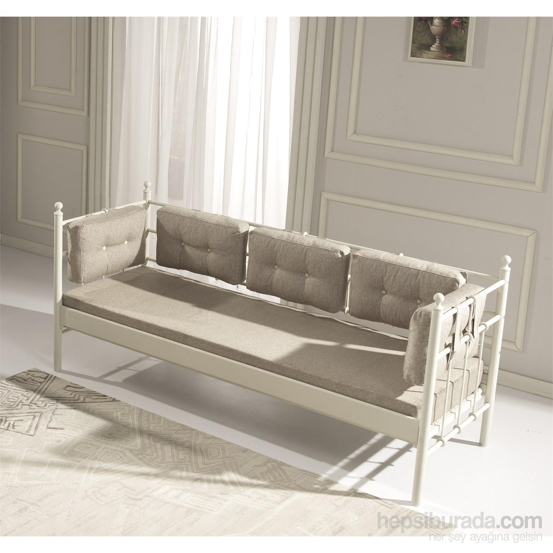 Unimet lalas metal sofa 70 x 200 beyaz minderli fiyat for Sofa 300 x 200