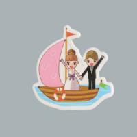 Tahtakale Toptancısı Sticker Gelin Damat Teknede (50 Adet)