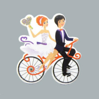 Tahtakale Toptancısı Sticker Karton Gln-Damat Bisikletli (50 Adet)