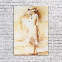 Albitablo Alone Woman Kanvas Tablo