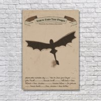 Albitablo Poster Love How To Train Your Dragon Kanvas Tablo
