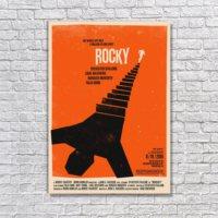 Albitablo Poster Love Rocky Movie Poster Rolling Roadshow 2010 Olly Moss Kanvas Tablo
