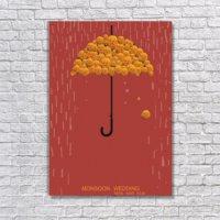 Albitablo Poster Love Monsoon Wedding Kanvas Tablo
