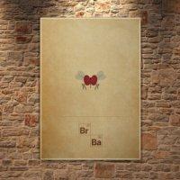 Albitablo Poster Love Breaking Bad Kanvas Tablo