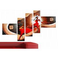 Tictac Design 5 Parçalı Kanvas Tablo Afrika Figürleri