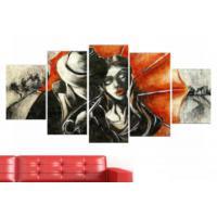 Tictac Design 5 Parçalı Kanvas Tablo Kadın Erkek