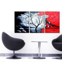 Tictac Design Kanvas Tablo Saat Kurumuş Ağaç
