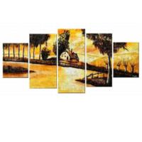 Tictac Design 5 Parçalı Kanvas Tablo Göl