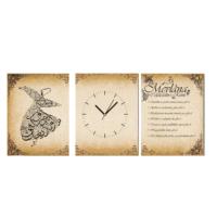 Tictac Design 3 Parçalı Tablo Saat - Mevlana