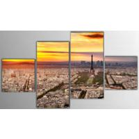 Tictac Design 4 Parça Kanvas Tablo - Paris2