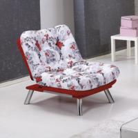 Futon Marmaris Tekli Kanepe Kırmızı Çiçekli Relax