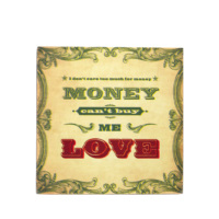 Lyricology Kanvas Tablo - Can't Buy Me Love Wall Art - 30,5 x 30,5 cm