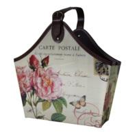 Giz Home Gazetelik Tek Saplı Carte Postale Pembe Çiçekli Büyük