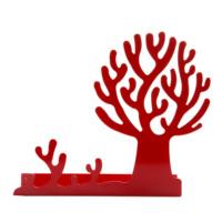 Chic Metal Ağaç Uzun Askılık/Raf - Kırmızı