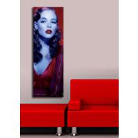 TabloModern Kırmızı Elbiseli Kadın - 1 Kanvas Tablo 30x90 cm