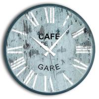 Frank Ray 60 cm Mdf Duvar Saati - Cafe De La Gare