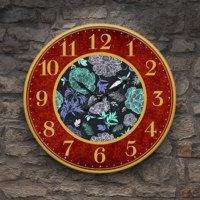 Frank Ray 60 cm MDF Wall Clock Desenli