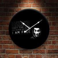 Frank Ray 60 cm MDF Wall Clock V For Vendetta Desen