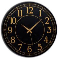 Frank Ray 60 cm MDF Wall Clock Siyah Desen