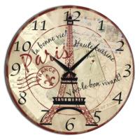 Frank Ray 60 cm Mdf Duvar Saati - Paris Eyfel Kulesi