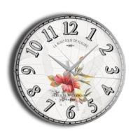 Frank Ray 60 cm Mdf Duvar Saati Çiçekli - 2