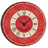 Frank Ray 60 cm Kırmızı Mdf Duvar Saati