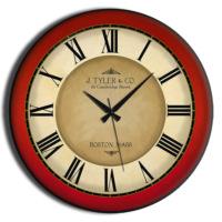 Frank Ray 60 cm Kırmızı Çerçeve Mdf Duvar Saati
