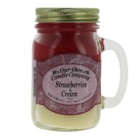 Our Own Candle Strawberry/Cream Büyük Kavanoz Mum
